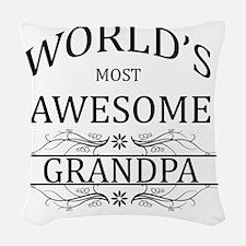 grandpa Woven Throw Pillow