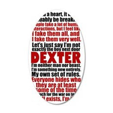 dexterquotesigg 35x21 Oval Wall Decal