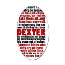 dexterquotesjournal 35x21 Oval Wall Decal