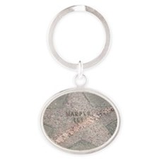Author Harper Lee's Star Oval Keychain
