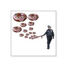 """Copper Donut Dream Time Square Sticker 3"""" x 3"""""""