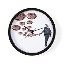 Copper Donut Dream Time Wall Clock