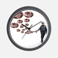 Copper Donut Dream Time Wall Clock