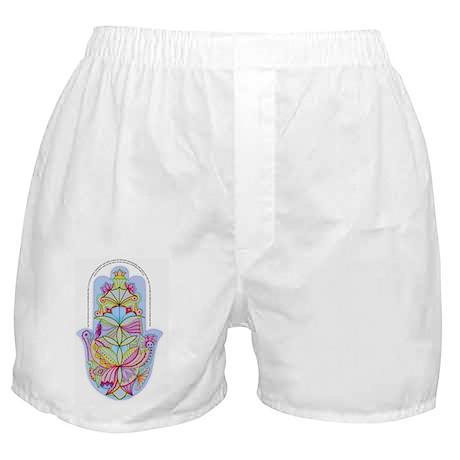 Home Bless Hamsa (hand) Hebrew+Englis Boxer Shorts