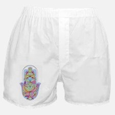 Home Bless Hamsa (hand) Hebrew+Englis Boxer Shorts