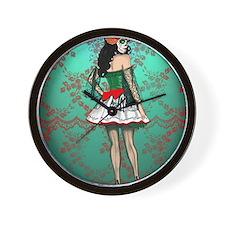 Dia De Los Muertos Stockings Pin-up Wall Clock