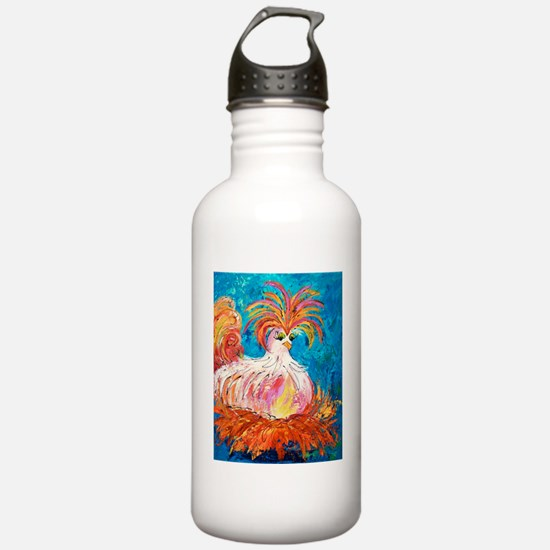 Crazy White Chick Water Bottle