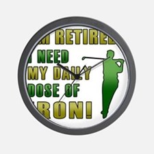 Funny Retired Golfer Wall Clock