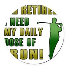 Funny Retired Golfer Round Car Magnet