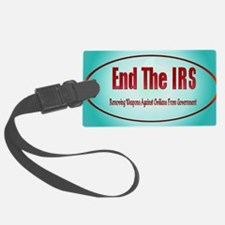 End The IRS Luggage Tag