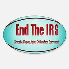 End The IRS Decal