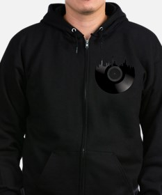 New York City Vinyl Record Zip Hoodie (dark)