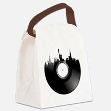 New York City Vinyl Record Canvas Lunch Bag