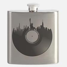 New York City Vinyl Record Flask