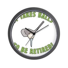 Funny Golfing Retirement Wall Clock