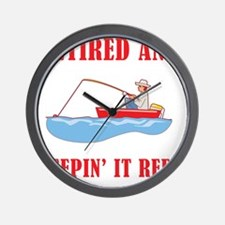 Funny Fishing Retirement Wall Clock