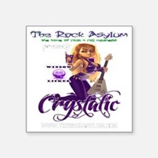 "DJ Crystalic 10 10 Clear Square Sticker 3"" x 3"""