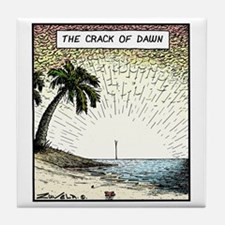 The crack of Dawn Tile Coaster