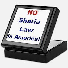 NO SHARIA LAW IN AMERICA Keepsake Box