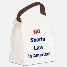 NO SHARIA LAW IN AMERICA Canvas Lunch Bag