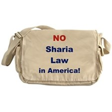 NO SHARIA LAW IN AMERICA Messenger Bag