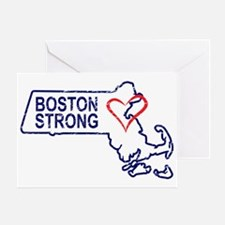 Boston Strong Heart Greeting Card