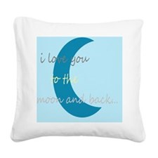 moonandbackblue Square Canvas Pillow