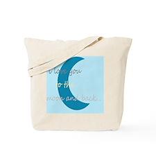 moonandbackblue Tote Bag
