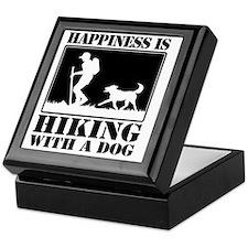 Happiness is Hiking with a Dog Keepsake Box