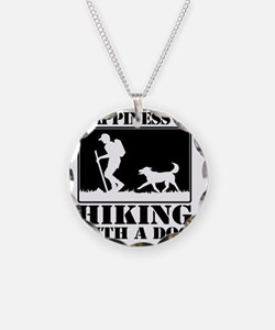 Happiness is Hiking with a D Necklace