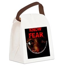 Know Fear 3in Sticker Canvas Lunch Bag