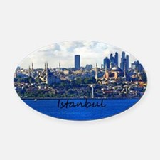 Istanbul_12.2x6.64_BlueMosque_Hagi Oval Car Magnet