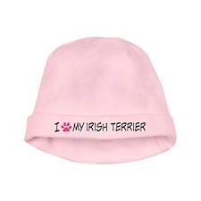 I Heart My Irish Terrier baby hat