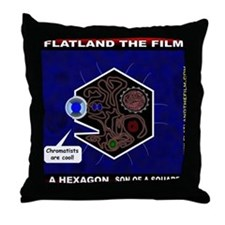 Flatland The Flim - A Hexagon Throw Pillow