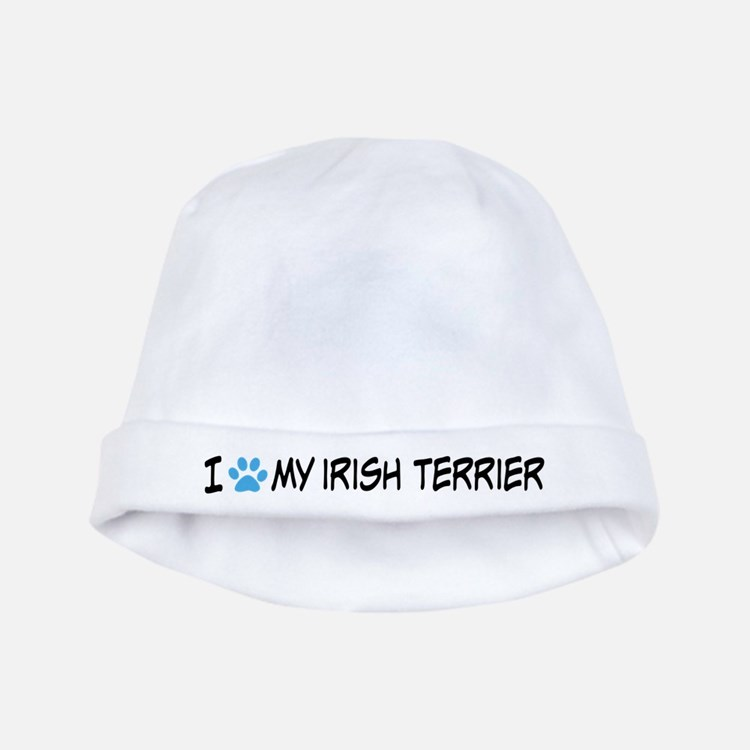 I Heart My Irish Terrier baby hat