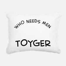 Toyger Cat Designs Rectangular Canvas Pillow