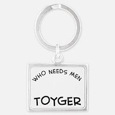 Toyger Cat Designs Landscape Keychain