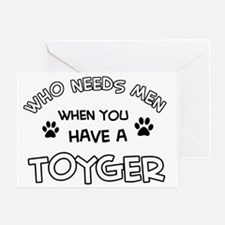 Toyger Cat Designs Greeting Card