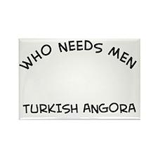 Turkish Angora Cat Designs Rectangle Magnet