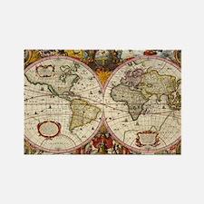 World Map 1630 Rectangle Magnet