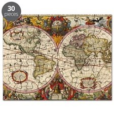 World Map 1630 Puzzle