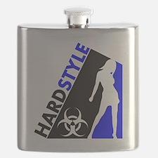 Hardstyle Dancer and Biohazard design Flask