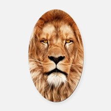 Lion - The King Oval Car Magnet