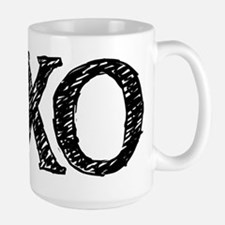 XO - black and white Stainless Steel Travel Mugs