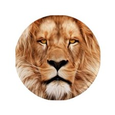 """Lion - The King 3.5"""" Button"""
