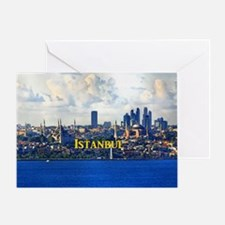 Istanbul_5x3rect_sticker_BlueMosque_ Greeting Card