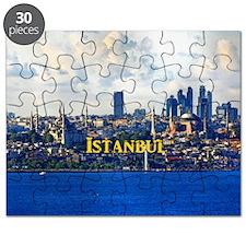 Istanbul_5x3rect_sticker_BlueMosque_HagiaSo Puzzle