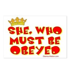 She who must be obeyed re Postcards (Package of 8)