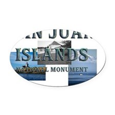 sanjuanislands Oval Car Magnet
