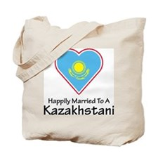 Happily Married Kazakhstan Tote Bag